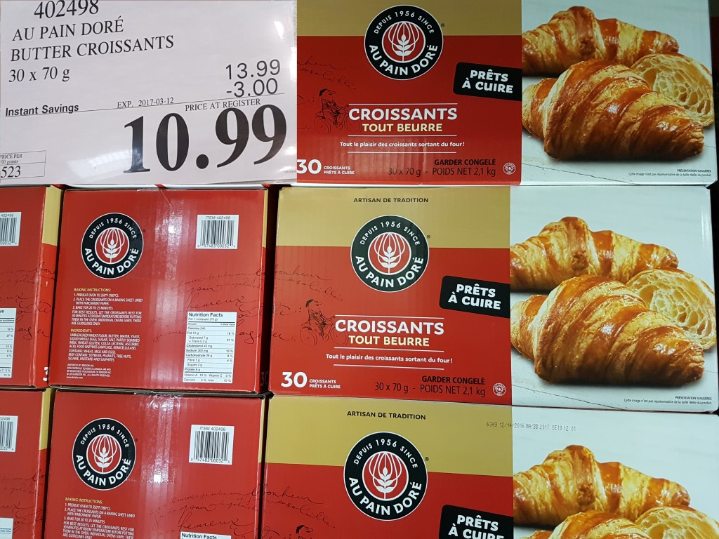 Image result for au pain dore costco croissants